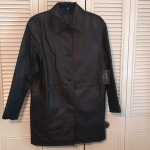 Ladies Jacqueline Ferrar Leather Coat